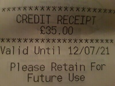 Marks And Spencer Credit Note/Voucher £35