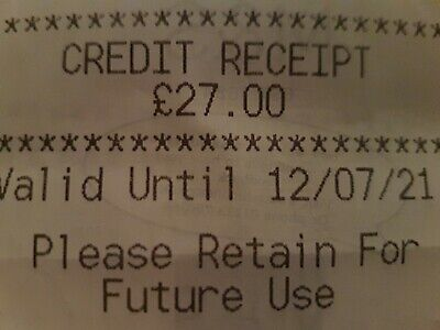 Marks And Spencer Credit Note/Voucher £27