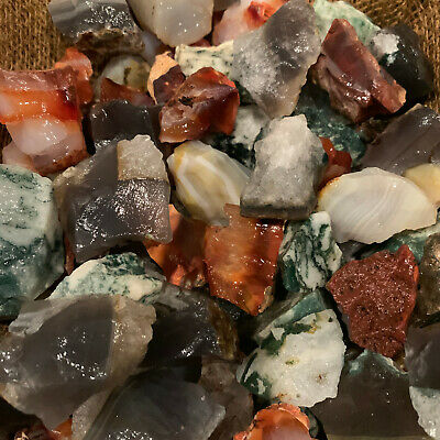 2000 Carat Lots of Unsearched Natural MIXED Agate Rough+ A FREE Faceted gemstone