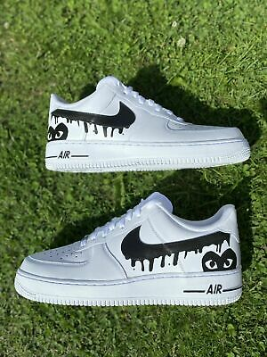 Nike Air Force 1 Glitter Personalizzate a mano Sneakers