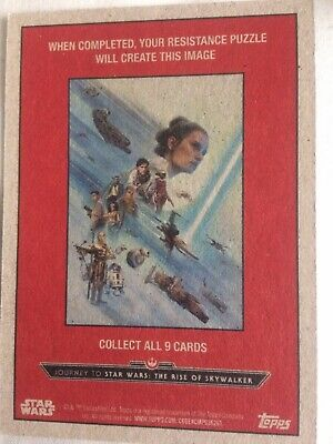 Star Wars The Rise Of Skywalker Topps Trading Cards X 10 Very Good  Free Postage