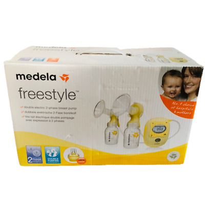 Medela Freestyle Double Electric Breast Pump Express Baby Milk Cushioned Comfort