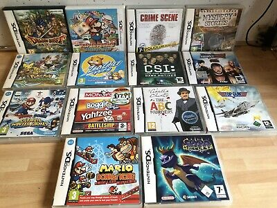 Mixture Of Nintendo Ds & 3ds Empty Game Cases & Manuals , inc Pokemon, Spyro Ect