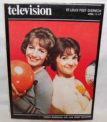 """1976 TV Television Guide """"Laverne & Shirley"""" St. Louis Post - Penny Marshall"""
