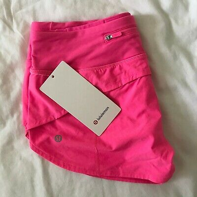 Lululemon Speed Up Short 2 5 Pink Highlight Size 6 New 98 00 Picclick