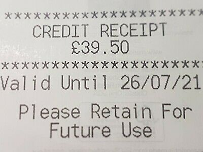 Marks And Spencer Credit Note/Voucher £39.50