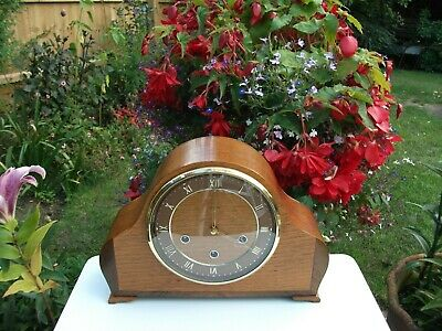 Smiths Enfield 8 Day Westminster Chiming Mantel Clock. 1955. Fully Overhauled.