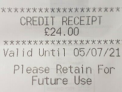 Marks And Spencer Credit Note/Voucher £24