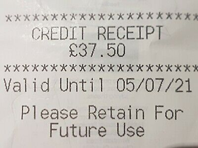 Marks And Spencer Credit Note/Voucher £37.50