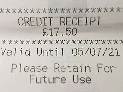 Marks And Spencer Credit Note/Voucher  £17.50