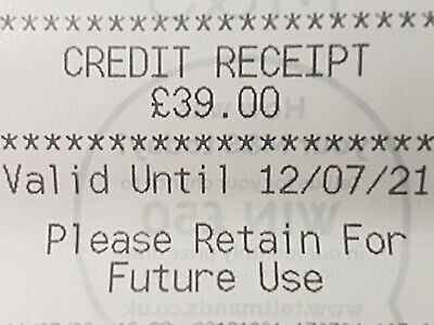 Marks And Spencer Credit Note/Voucher  £39