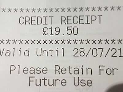 Marks And Spencer Credit Note/Voucher  £19.50
