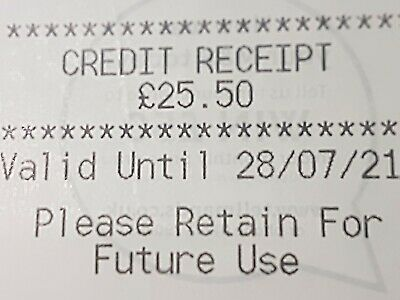 Marks And Spencer Credit Note/Voucher  £25.50