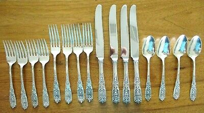 Milburn Rose by Westmorland Sterling Silver Flatware 4 Place Settings, 16 Pieces
