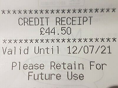 Marks And Spencer Credit Note/Voucher  £44.50