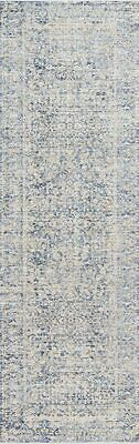 "NEW! Loloi Pandora Distressed Persian Area Rug 2'6""x 16'0"" Runner Blue/Gold $450"
