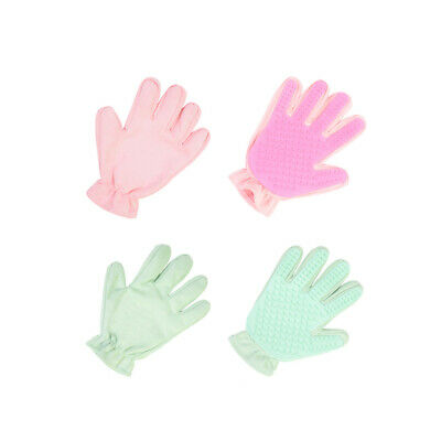 Pet Grooming Glove For Cats Dogs SuedeSilicone Deshedding Brush HairRemoval 17