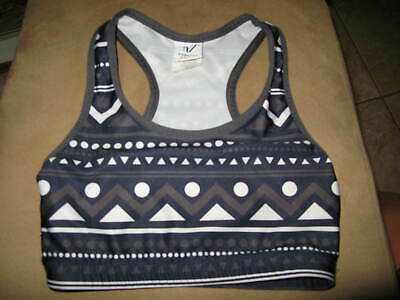 NWT gray or white or  Tank Blue or Black Varsity Cheer Nationals Sports Bra