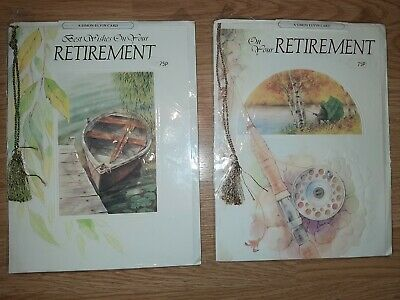 2 x Simon Elvin On Your Retirement Greeting cards A4 size