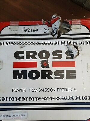 Cross Morse Precision Roller Chain 10feet 1inch Pitch ANSI 80-1  With Connecting