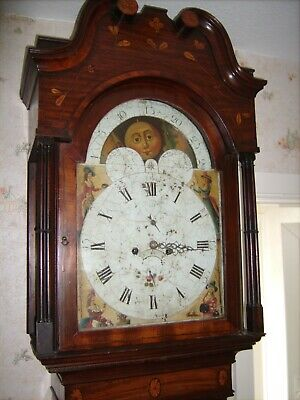 Antique C1770 English William Barlow of Ashton 8 Day Grandfather long-case Clock