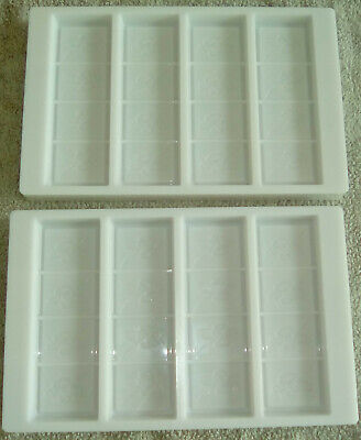 Professional Barry Callebaut Polycarbonate Chocolate Bar Mould (4 Bar Fill)  x2