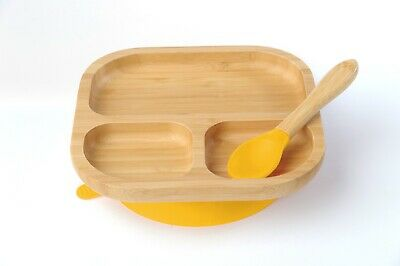 Blue Bubba Bear™ Baby Toddler Bamboo Egg Cup /& Weaning Spoon Set
