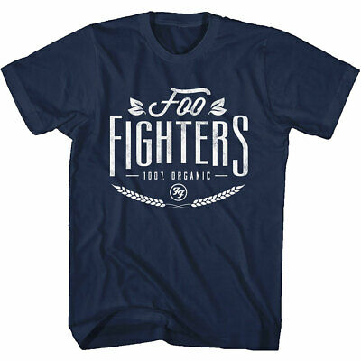 FOO FIGHTERS 100% Organic Mens T Shirt Unisex Tee Official Merch Navy Blue