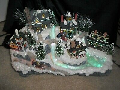 2003 Lighted AVON FIBER OPTIC CHRISTMAS VILLAGE Water Fall With Adapter