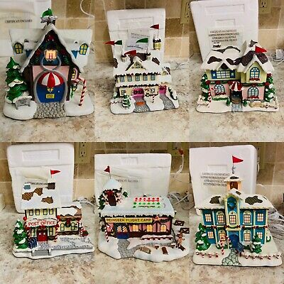 Lot Hawthorne Village Rudolph's Christmas Town 6 Houses