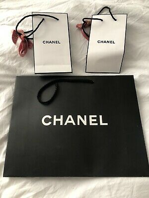 Chanel Carrier Bags x3 with Chanel Ribbon