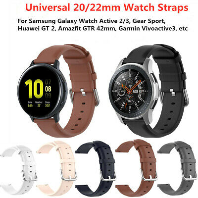 Universal 20/22mm Quick Release Sports Leather Wrist Watch Band Strap Bracelets