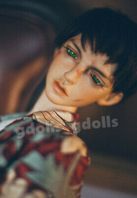 Eyes BJD Tan Handsome Boy Male 19/'/' Tall Resin Unpainted Doll Face Makeup