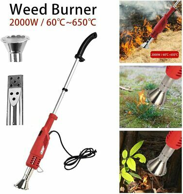 2000W Electric Garden Weed Burner Killer Torch Patio Hot Air Blaster No Gas UK