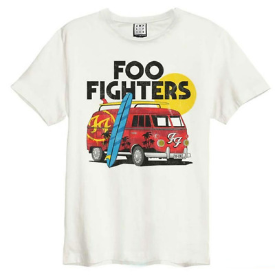 Official Foo Fighters Amplified VW Van White Unisex T-Shirt Licensed Tee