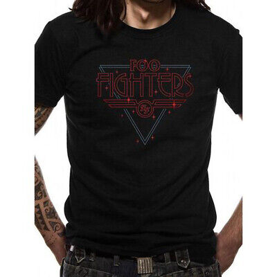 Official Foo Fighters Disco Outline Logo Black Unisex T-Shirt Licensed Tee