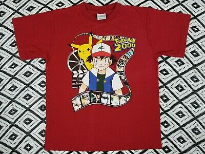 "Vintage POKEMON 2000 "" THE MOVIE "" T Shirt  ,RARE , Anime , youth size"