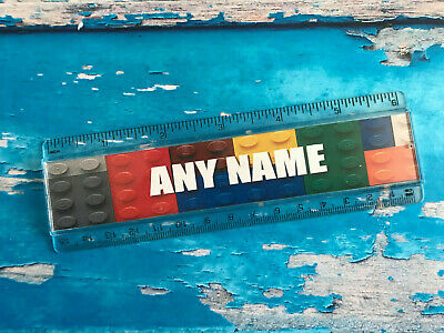 Double Sided Rainbow School Stationery personalised ruler Add your name