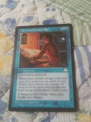 Ancestral Knowledge Weatherlight magic mtg Eng NM Near Mint