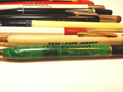 Vintage Pencil Lot 14 Advertising Great Mix Very Interesting