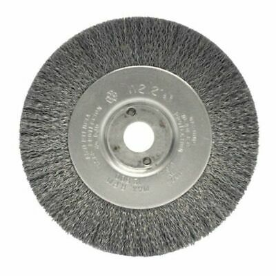 "WEILER 00104 Narrow Face Crimped Wire Wheel 4"" x 1/2"" W .006"" Steel Wire (2pk)"