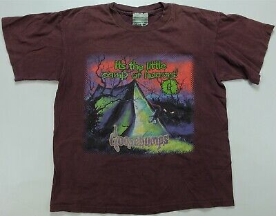 Rare Vintage GOOSEBUMPS The Little Camp of Horrors T Shirt 90s 2000s Youth SZ XL