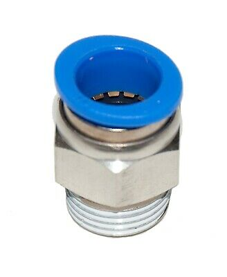 """5 Pieces New  Pneumatic 1/2"""" Tube x 1/2"""" NPT push to connect one touch fitting"""