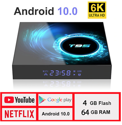 2020 T95 Smart TV Box 6K Android 10 WIFI RAM 4G ROM 32-64G DDR4 Boitier TV UHD