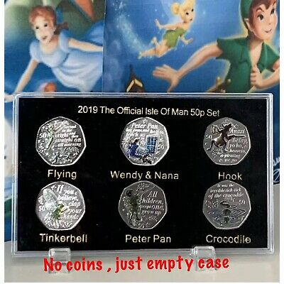 2019 Isle of Man 90th Celebrating Of PETER PAN 50p coin Display Case (NO COIN)
