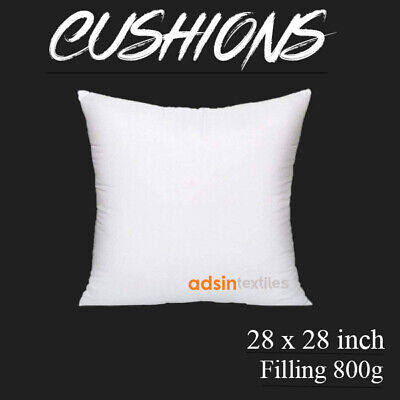 Cushion Pads 24 x 24 Inch Extreme Fill Plump Hollowfibre Inners Fillers Scatters