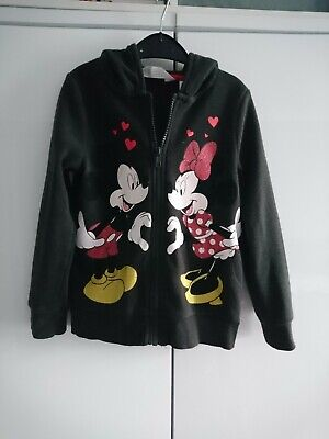 Girls Minnie Mouse 2 Piece Set Top /& Pant Official Disney Full Zip Hoodie BNWT