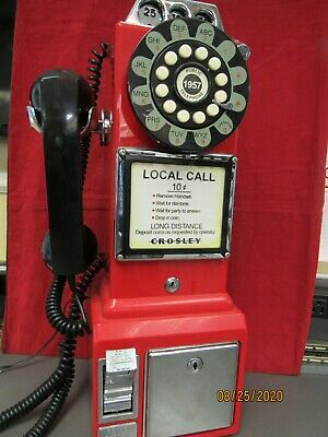 CROSLEY 1950's CR56- OLD FASHIONED ROTARY STYLE  PAY PHONE-RED [21817-CT-MY}
