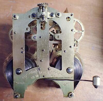Antique Ansonia 4 1/2 8-Day Time & Strike Clock Movement For Clock Repair Parts