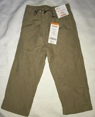 Gymboree Boys Nwt Gymster Pants Tan Beige Jersey Lined 2016 18-24 M